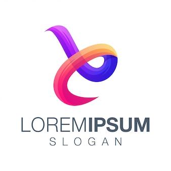 Design de logotipo letra e gradiente de cor
