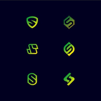Design de logotipo letra s do monograma