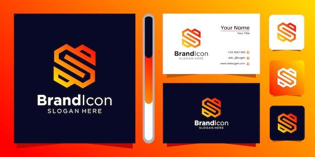 Design de logotipo letra s e cartão de visita