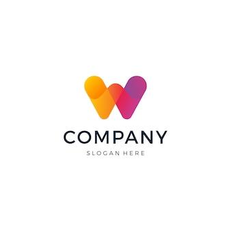 Design de logotipo letra w