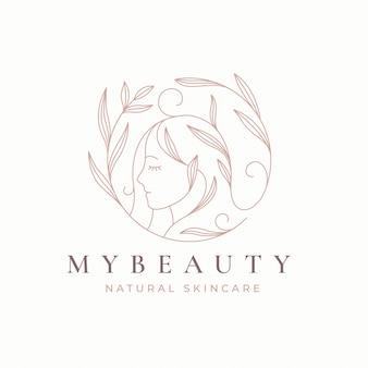 Design de logotipo linha floral mulheres arte