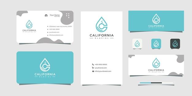 Design de logotipo local c e design de cartão de visita