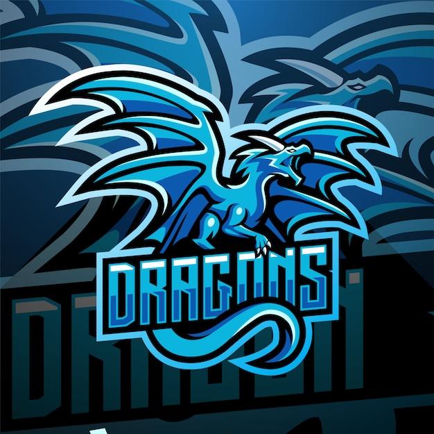 Design de logotipo mascote dragão esport