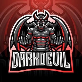 Design de logotipo mascote esport diabo escuro