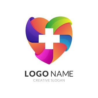 Design de logotipo médico do coração