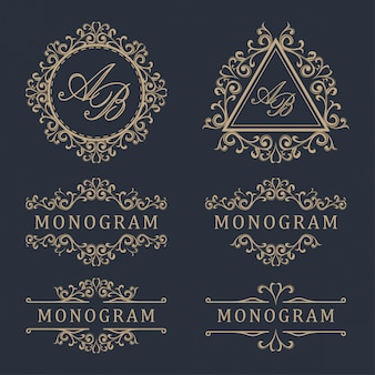 Design de logotipo modelo de luxo