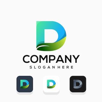 Design de logotipo moderno da letra d