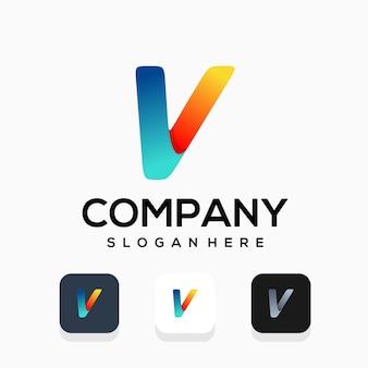 Design de logotipo moderno da letra v