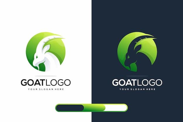 Design de logotipo moderno de cabra