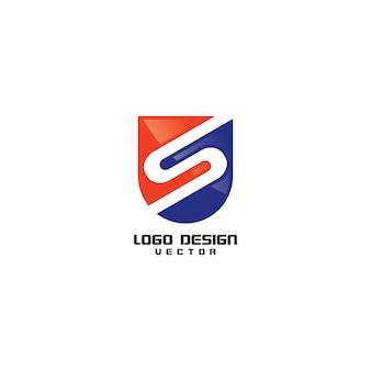 Design de logotipo moderno letra s