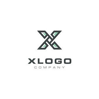 Design de logotipo moderno letra x hélice