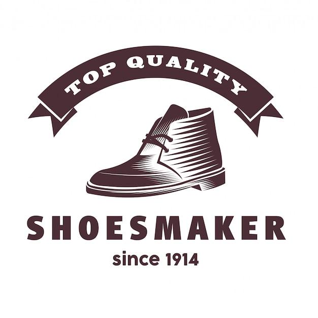 Design de logotipo moderno sapato