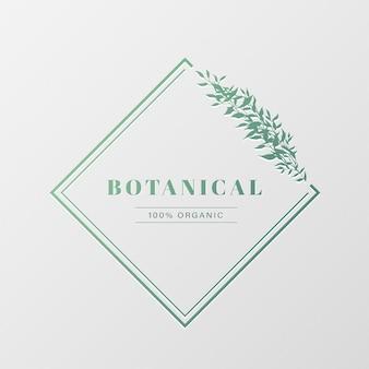 Design de logotipo natural para branding, identidade corporativa.
