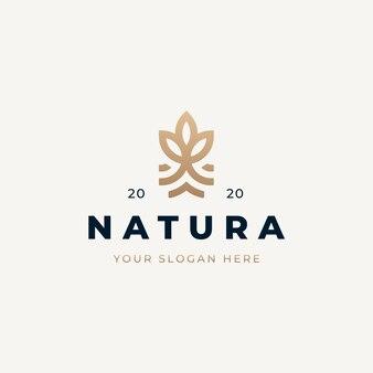 Design de logotipo natural vintage
