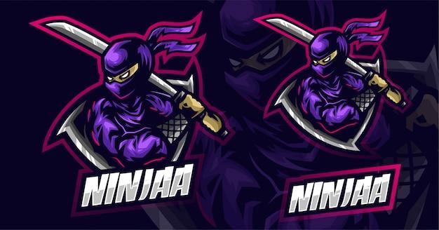 Design de logotipo ninja esport