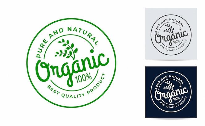 Design de logotipo orgânico da etiqueta