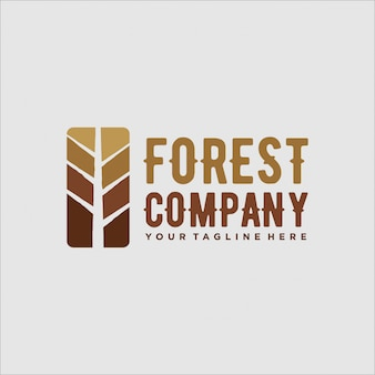 Design de logotipo para a aventura da floresta