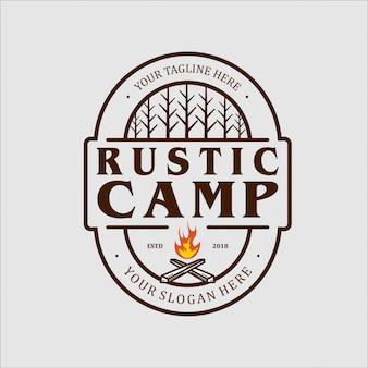Design de logotipo para acampamento rústico