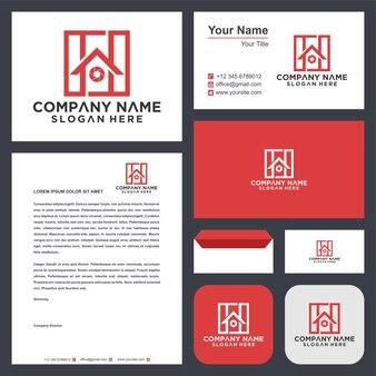 Design de logotipo para casa e cartão de visita