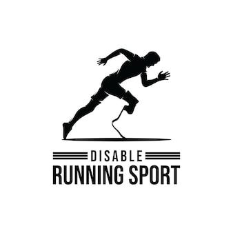 Design de logotipo para competições esportivas de corredor com deficiência
