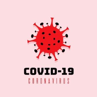 Design de logotipo para coronavírus