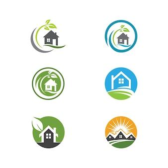 Design de logotipo para imóveis, propriedades e construção