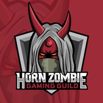 Design de logotipo para jogos de zumbis chifre
