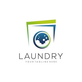 Design de logotipo para lavanderia
