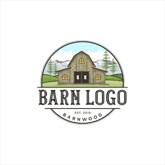 Design de logotipo para madeira de celeiro