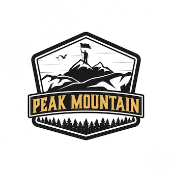 Design de logotipo peakmountain