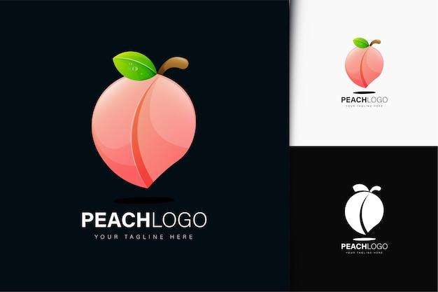 Design de logotipo pêssego com gradiente