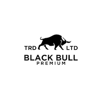 Design de logotipo premium de touro negro