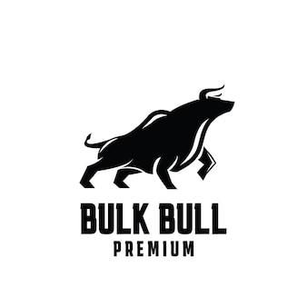 Design de logotipo premium em massa de touro
