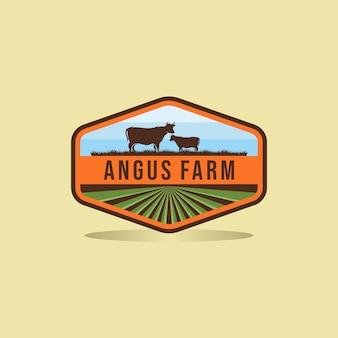 Design de logotipo preto angus