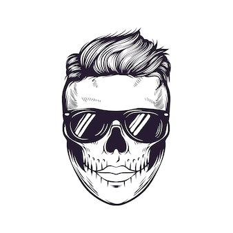 Design de logotipo punk skull