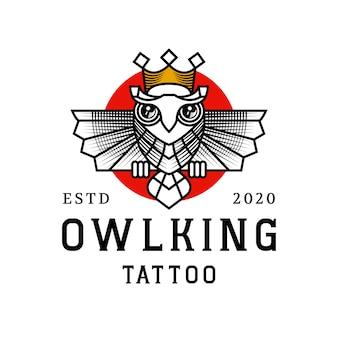 Design de logotipo rei coruja