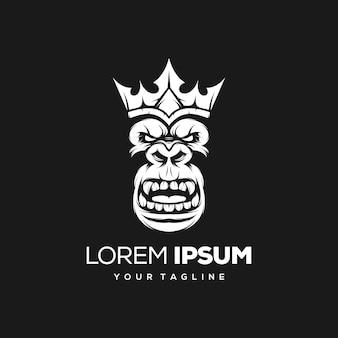 Design de logotipo rei macaco