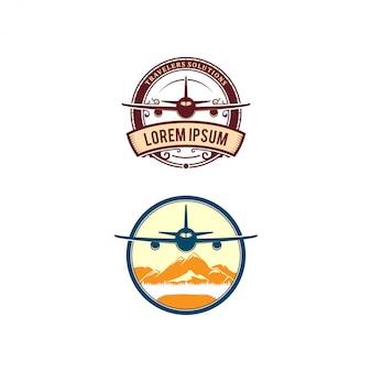 Design de logotipo relacionado de avião