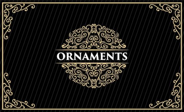 Design de logotipo retrô vintage de luxo de herança desenhada à mão com moldura decorativa para texto de cartão de convite de casamento e exibição de fonte premium
