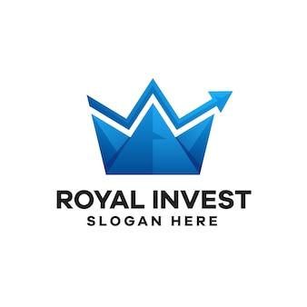 Design de logotipo royal invest gradient