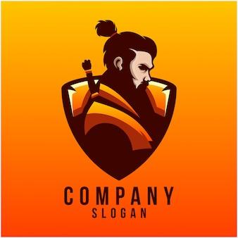 Design de logotipo samurai
