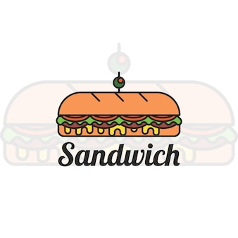 Design de logotipo sandwich