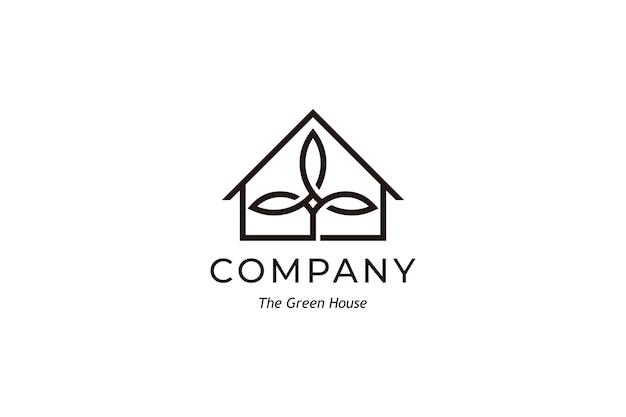 Design de logotipo simples da green house