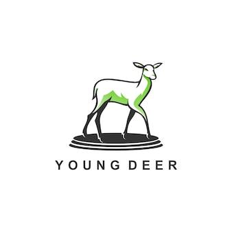 Design de logotipo simples jovem cervo