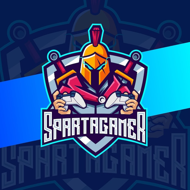 Design de logotipo spartan mascote esport