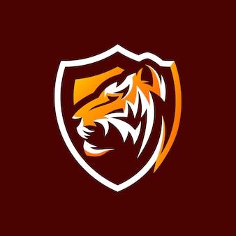 Design de logotipo tigre pronto para uso