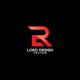 Design de logotipo vermelho símbolo r