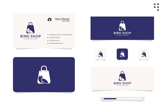 Design de logotipo vetorial para loja de pássaros