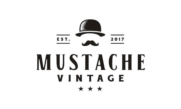 Design de logotipo vintage cavalheiro hipster