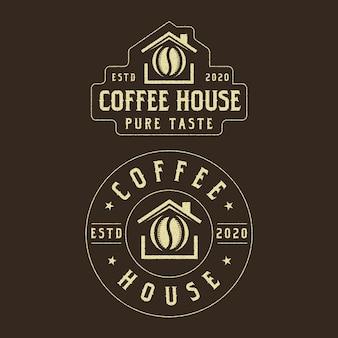 Design de logotipo vintage da cafeteria